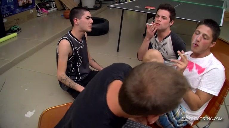Smoke Sucker Wesleys Gangbang! - Smoke Sucker Wesleys Gangbang! - Boys-Smoking Gay kiss sex