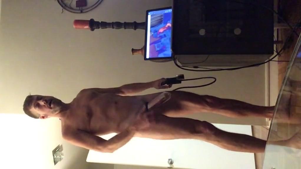 Cock Pumping prostate massage gagged fetish