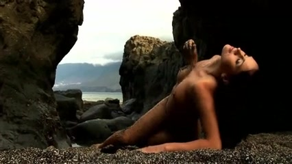 Hawt Gal on Sand and Rocks creampie for straight guy compilation