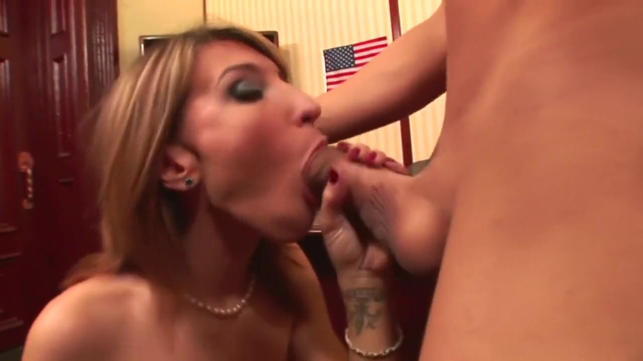 Tall babe gets fuck at the work place Busty lesbian tranny licks and plows pussy