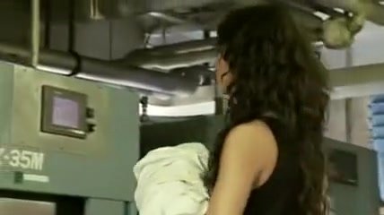 Dirty Dickin in a Dirty Laundromat Lesbian mirror pounding
