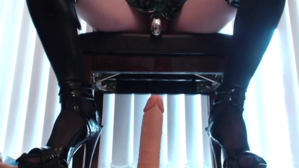 Riding Dildo in Wet Look Schoolgirl Outfit free pussy fucking movie trailers