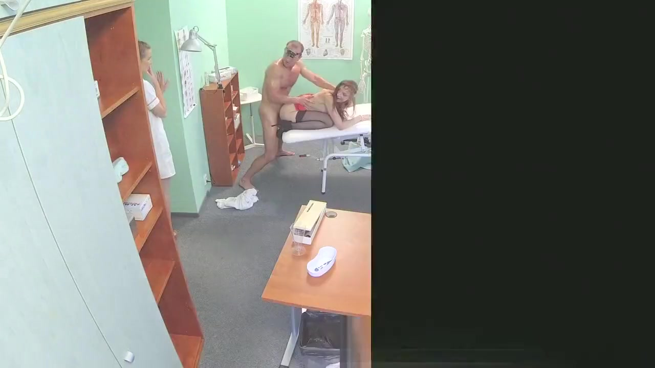 Hot nurse joins doctor and sexy patient for threesome Clean shaved highrez large aureola skin for