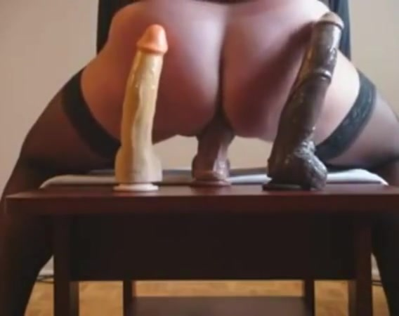 Good ride on 8-10 and 12 inches dildo cock Extreme free penetration sex video