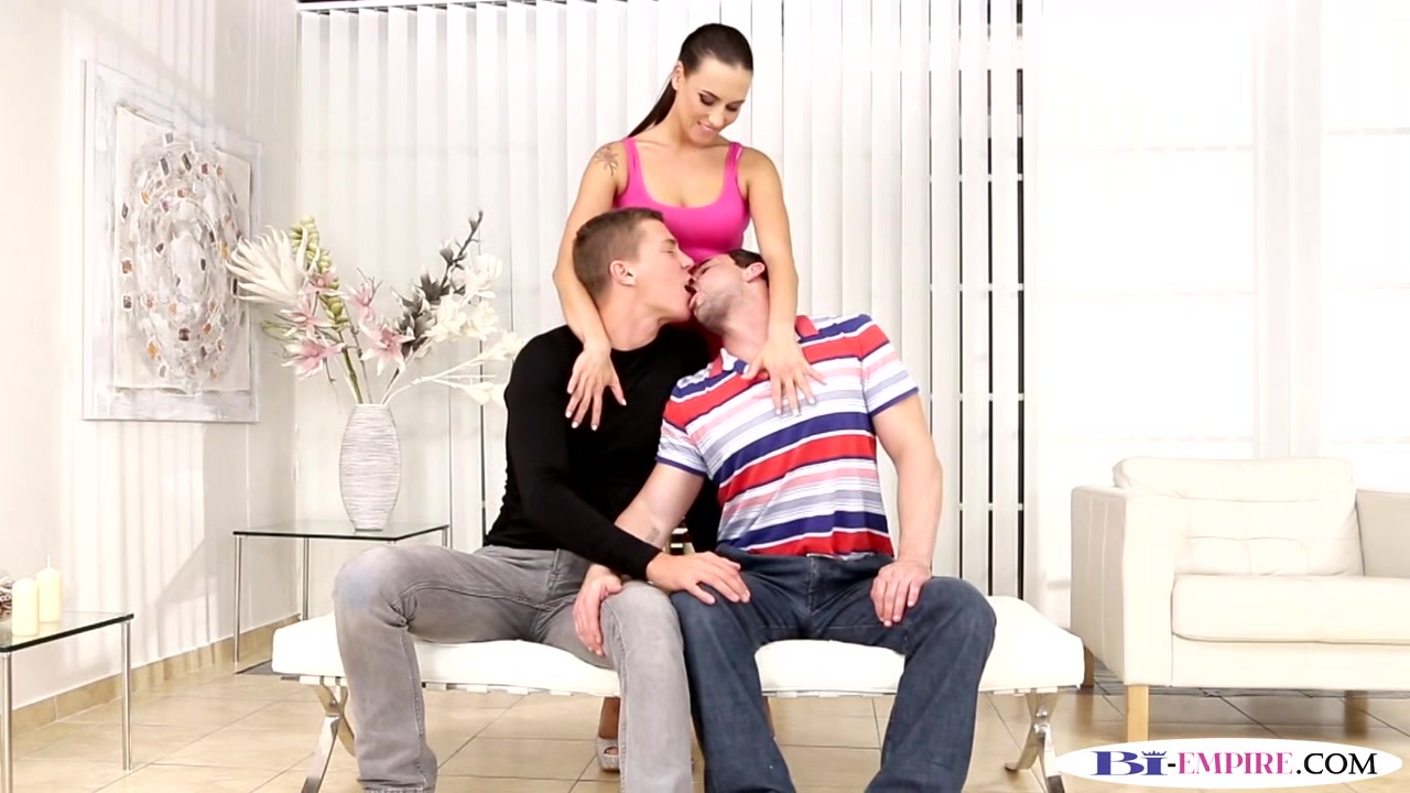 Buttfucked stud spills cum in mmf threesome mature from behind porn