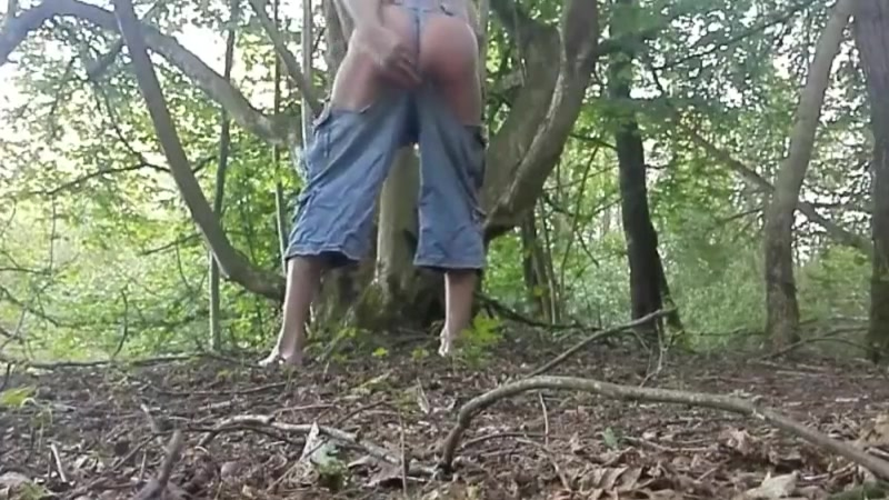 Out in the forest Blonde gangbanged in bathroom