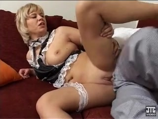 A chef is fucking a busty French maid in the kitchen Black and white pics of tits