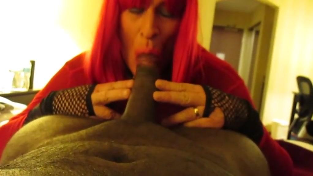 Sissy Sucks 16 BBC Secret dildo stimulation while going out