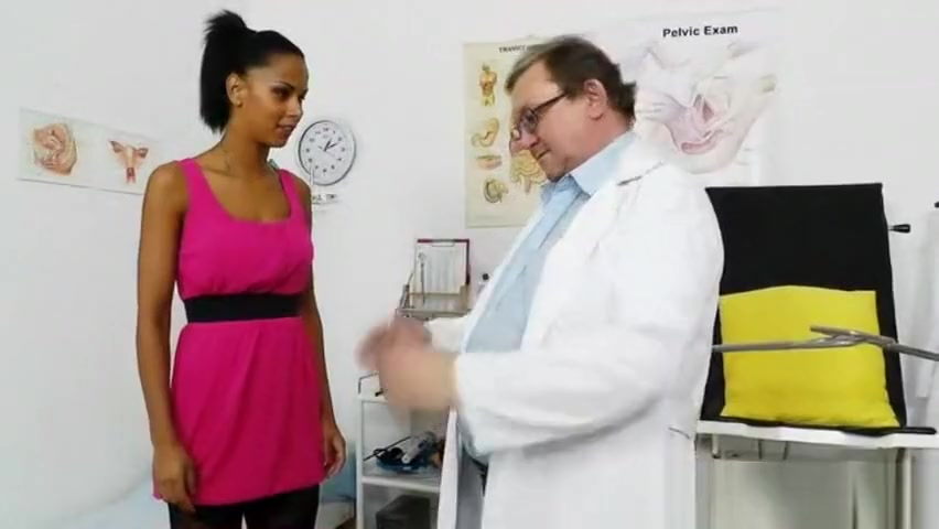Ebony wonder taking a good cunt checkup Bouncing boobs wallpaper
