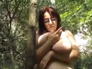 Busty mature plays with her enormous tits sexy naked women orgasiming