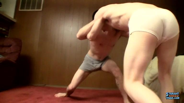 Wrestling Straight Boys Stroke - Nolan And Brian Strowkes - StraightNakedThugs Sexy men in black