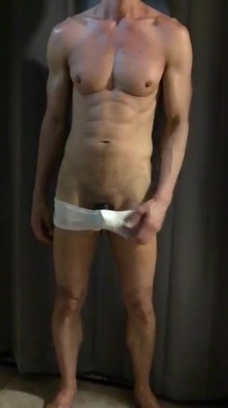 Sixpac714 Bulging hardon underwear strip show u suck my balls