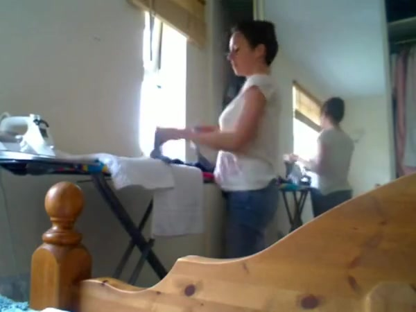 British girl rips a few farts whilst doing the ironing Sarah vandella i have a wife