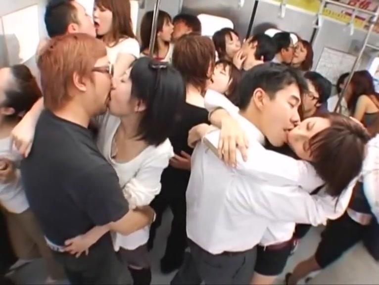 Train Commuter Tongue Kissing Orgy! Bob helmke sex porn sites
