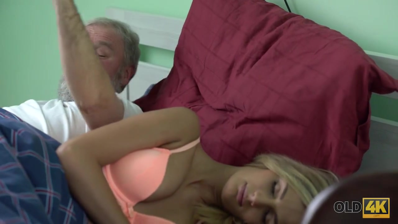 OLD4K. Handsome old man was happy to satisfy his long-legged wife skinny waist natural breasts