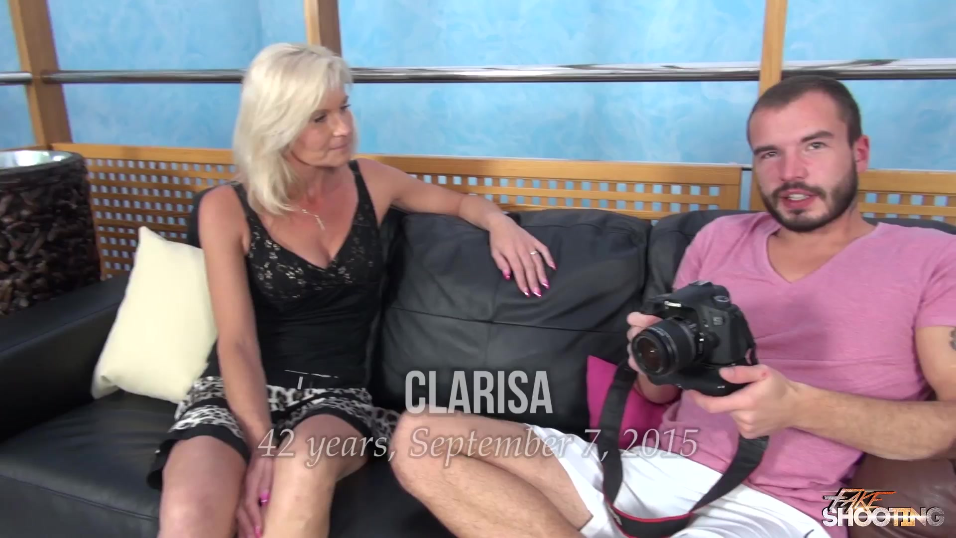 MILF Clarisa Strips And Fucks For An Audition - FakeShooting