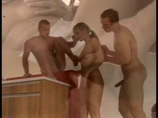 German whore enjoys double penetration