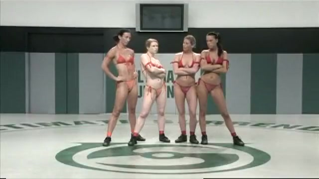4 girls catfighting, losers get fucked fucking girl forced to fuck