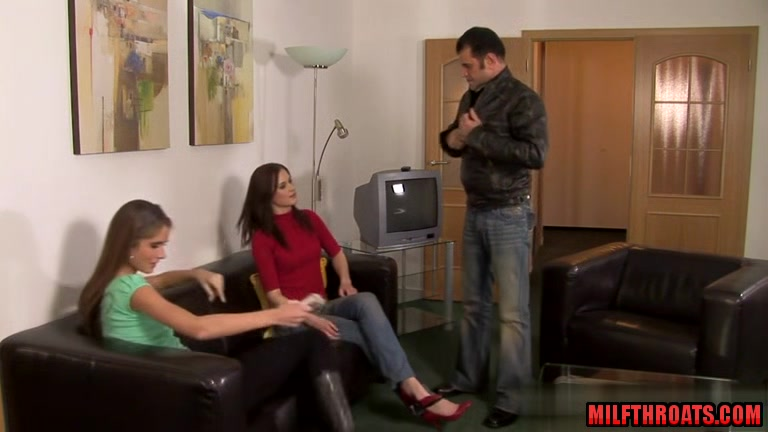 Hot milf threesome with cum in mouth Mature sexy nylons