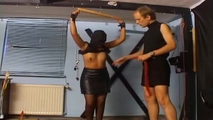 Dirty babe gets her pussy flogged hard BDSM style Reality King Pure 18
