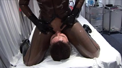 Breath Play In Latex And Pvc Large mature nude