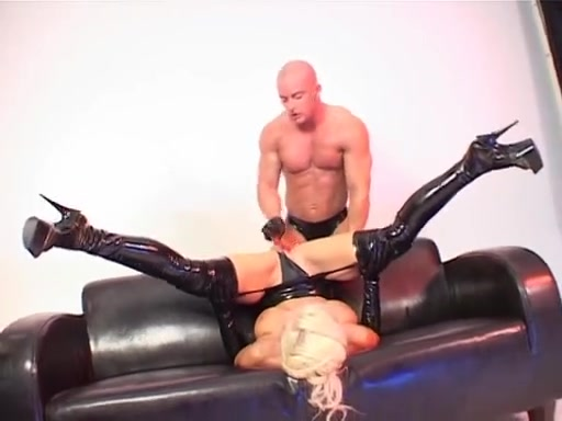 Latex and toys Hot shy threesome sex