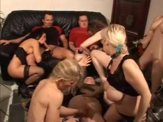 Slutty German babes enjoy a dirty group sex