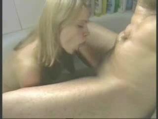 Good looking blonde with great boobs in the bath gives a blowjob back to black lyrics