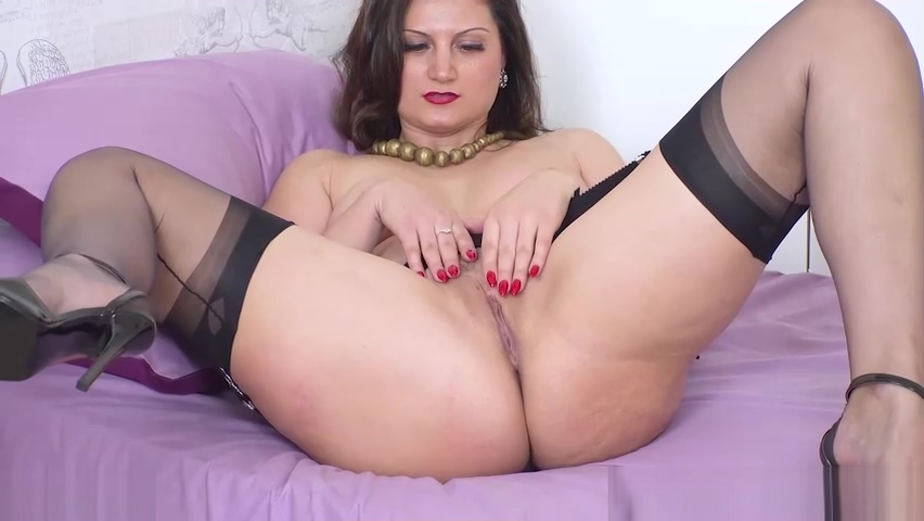 Busty brunette Eva Johnson strips wanks in sheer nylon heels women watching men have sex pictures