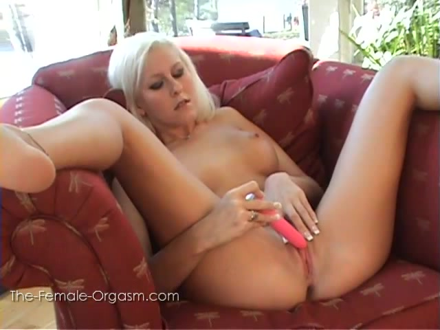 The Female Orgasm: Felicia Fallon Red Chair Huge female nipples