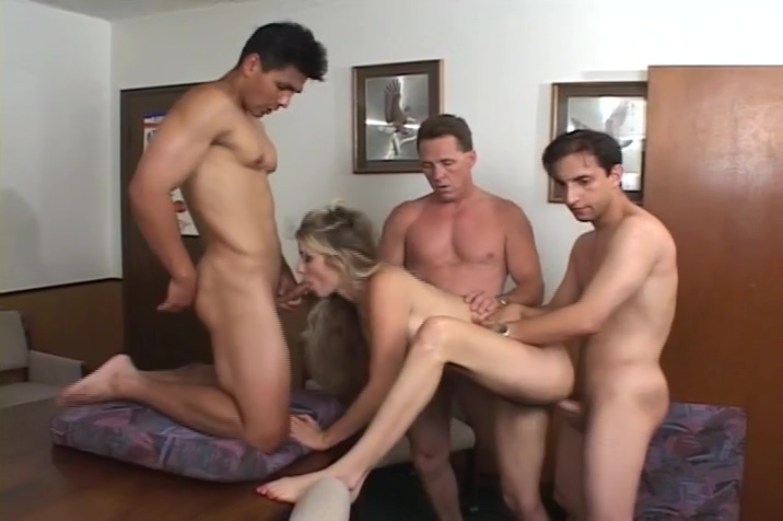 Blonde Babe Has Threeway Then Another Blonde Blows