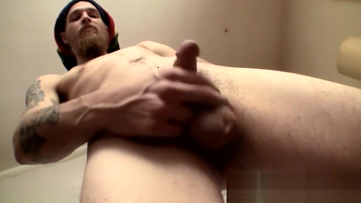 Nasty looking straight punk with rasta hat masturbates solo Free homemade sex videos