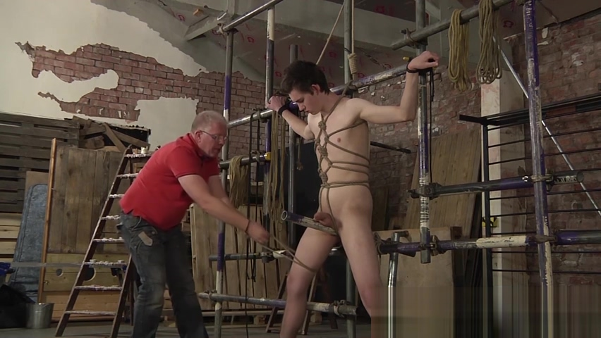 Mature master Sebastian Kane strokes his bound slaves cock nude girlsin 5th grade