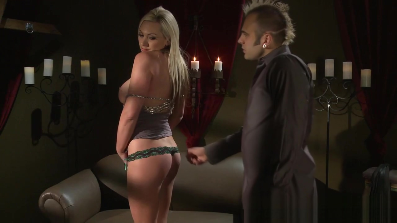 Babe gets tied and fucked