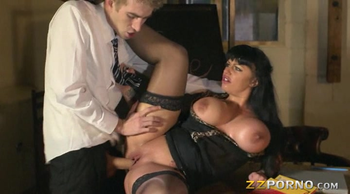 Massive juggs whore Kerry Louise pussy fucked and facialed deep throat penis gif