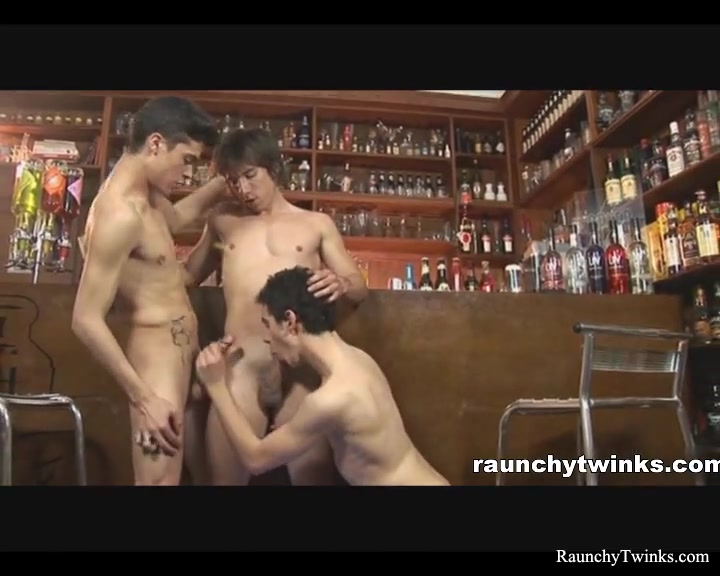 RaunchyTwinks Video: Bar Threesome new pornographers don t bring me down