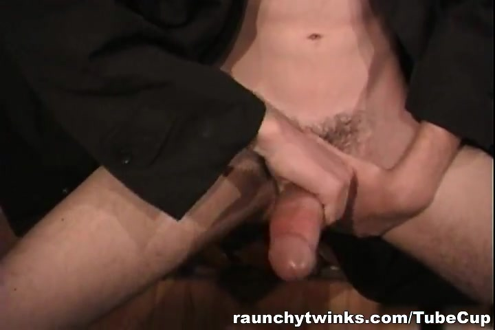 RaunchyTwinks Video: Young stud flashes his cock Naked peach blonde girl