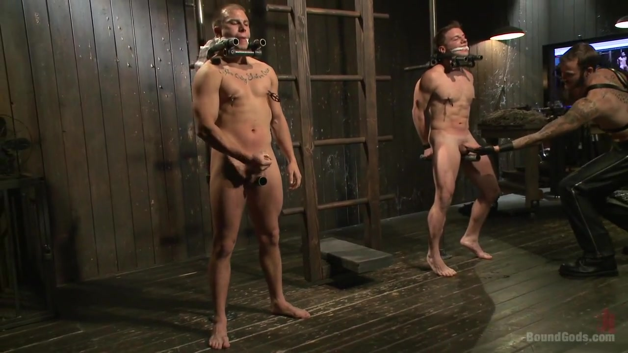 BoundGods : A pain slut and a newcomer Live Show Watch Video Movie