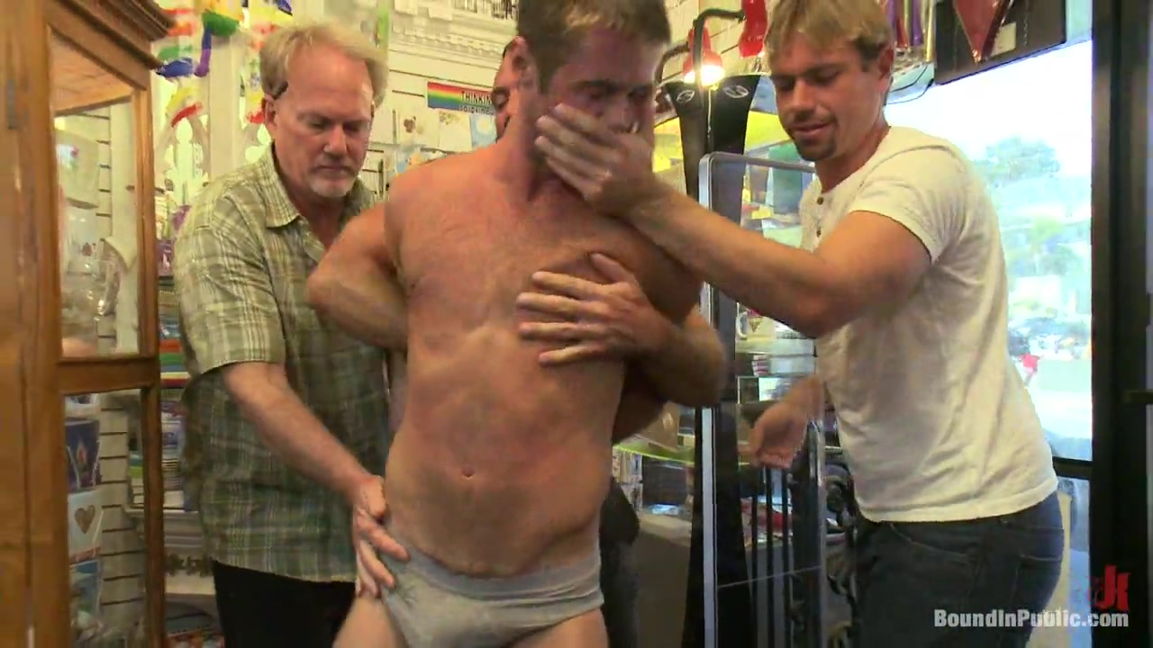 Bound in Public. A mob of men punish a thief with a giant cock Redhead milf shannon kelly