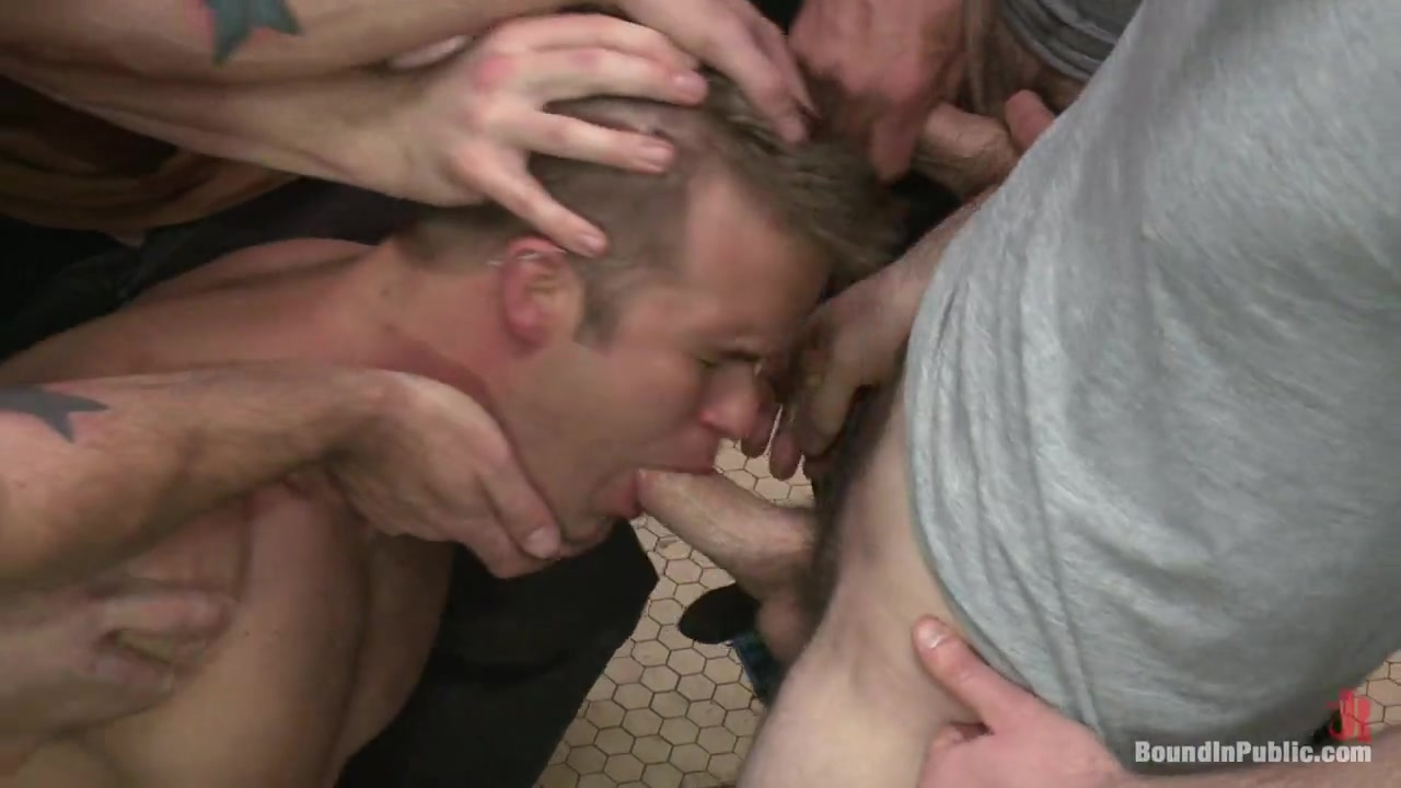 Bound in Public. Straight stud gets gang fucked in a crowded cruising bathroom How to get laid on match