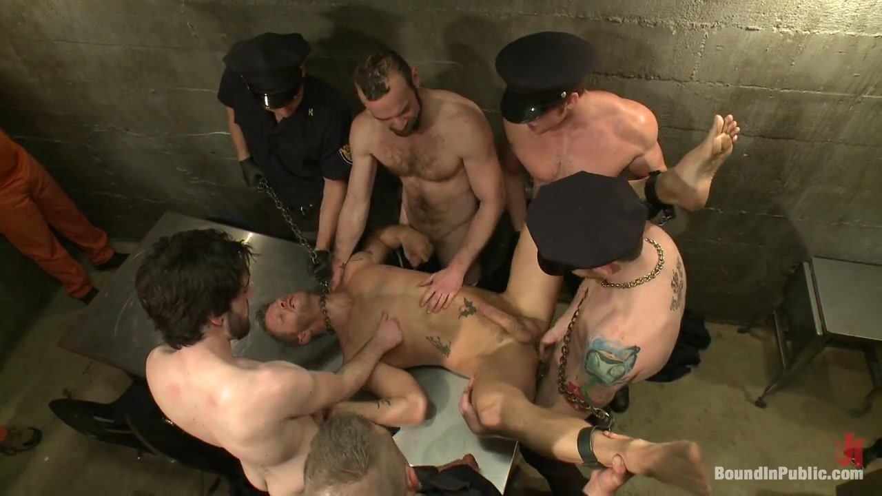 Bound in Public. Lockup Cell Extraction and Prison Sex Part Two Milf gives expert handjob