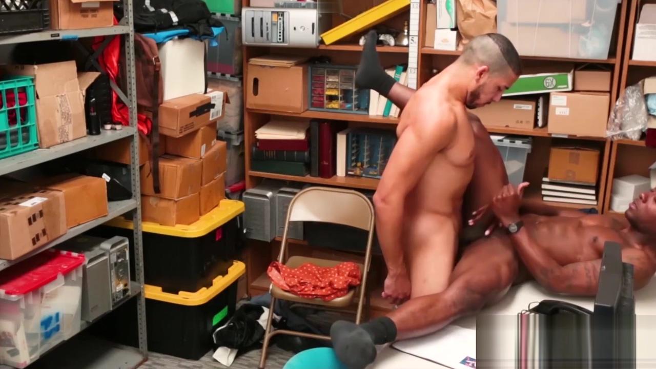 Security officer fucks a tanned black dudes tight hole hard Milf tits big aereolas