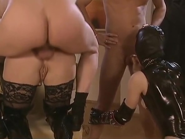 Foursome with latex - DBM Video huge breasts in clothing