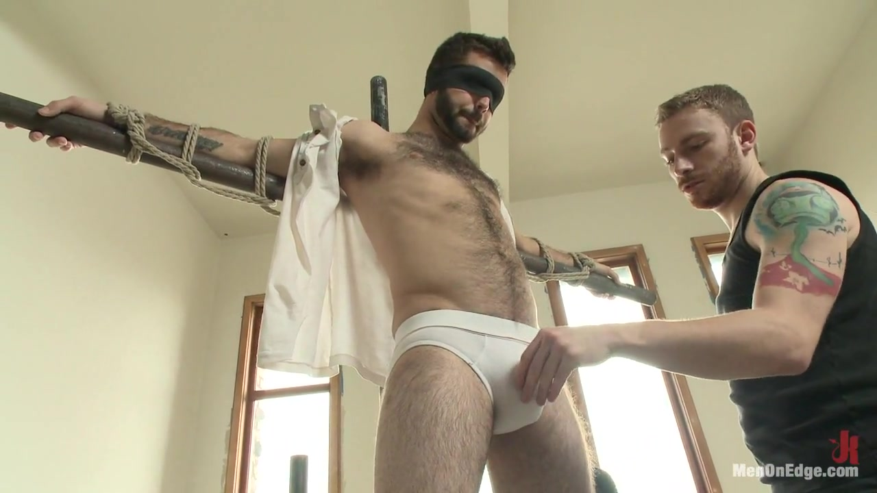 Hot Hairy Stud Tied up and Edged for first time Beautiful Couple Hard Fucking in Multiple Position