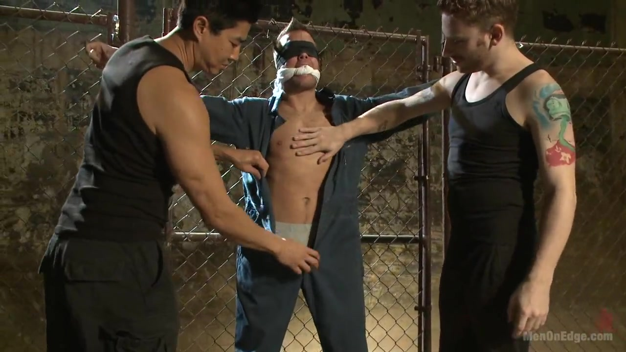 Hot dock worker taken down and his aching hard cock edged by two pervs Classmate Fucking Hd