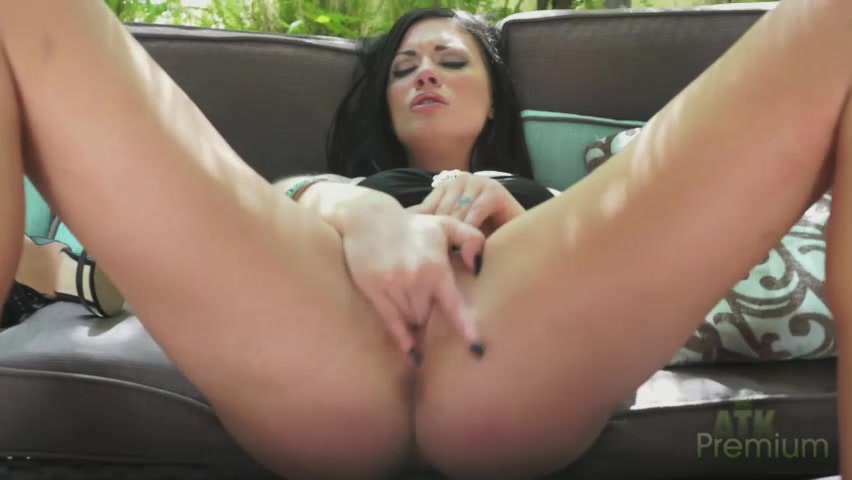 ATKGirlfriends video: Andy San Dimas sucking on her toes and fingering her shaved pussy. man to man erotic massage tube