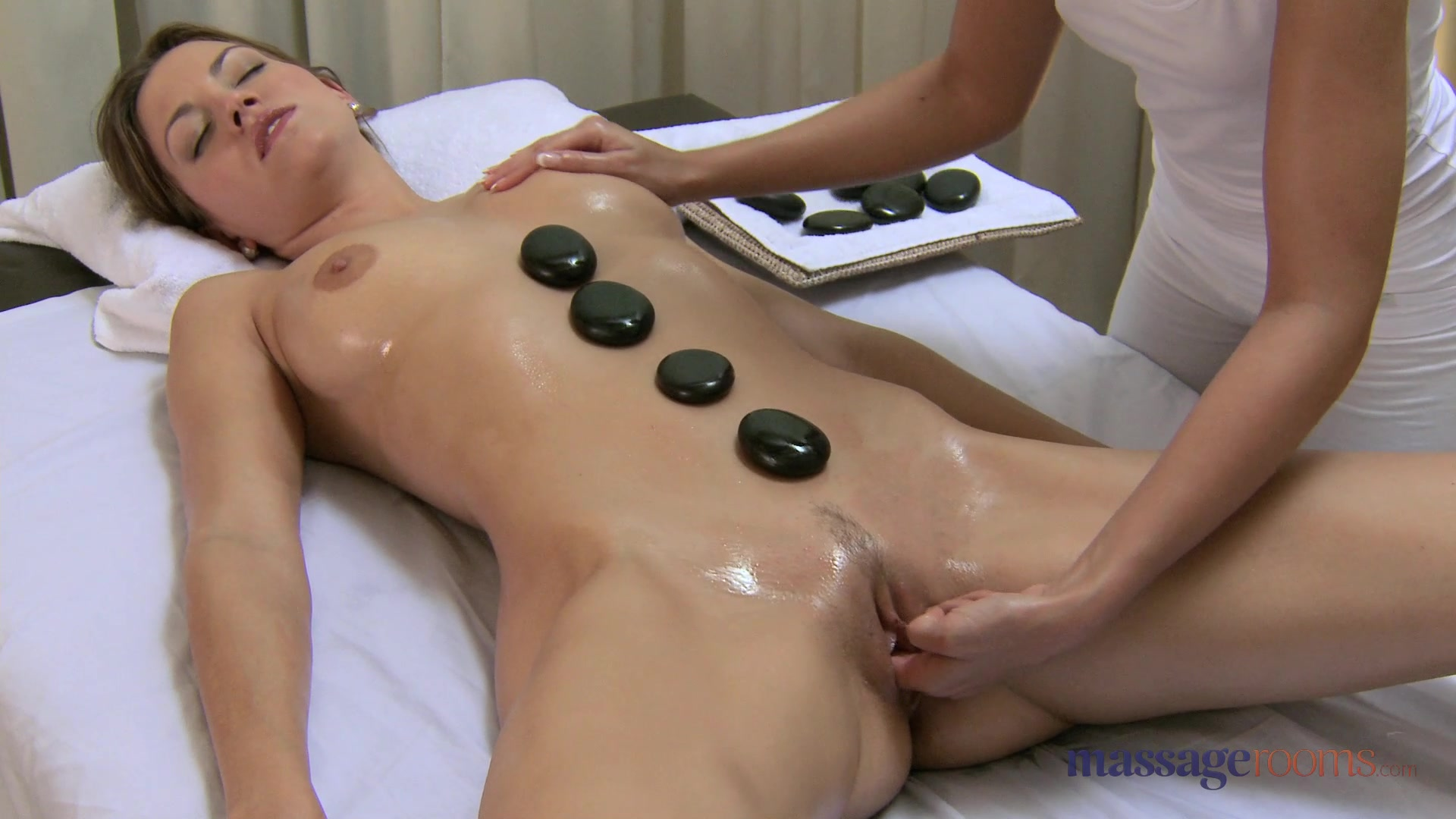Blonde lesbian Lola does massage to a very horny boy Blonde Professor Molested Her College student