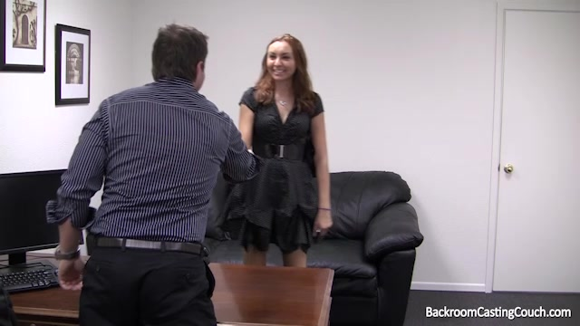 Cute young girl being pounded to get a pornstar job