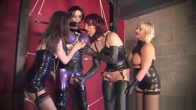 latex bondage sissy used to amuse two Mistresses Big ass latina spicy
