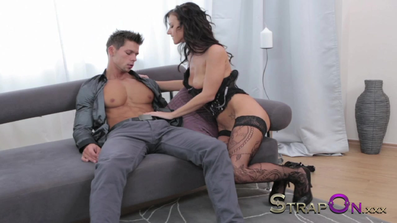 Strapon Ripped euro guy gets ass fucked by his sexy girlfriend my mom jacks me off porn videos